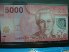 (BN 0113) 2009 Chile 5000 Pesos, Polymer Note & Low S/N 00 - UNC
