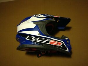 LS2 MX456 Race Motocross Dirt Bike Helmet, Blue Small Free Shipping