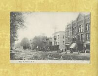 NY Homer 1912 antique postcard STORES ON Main Street New York to EL MA