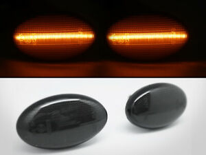 LED Side Markers Smoke Lens Lights For For Subaru 02-07 Impreza WRX STI GDA GDB