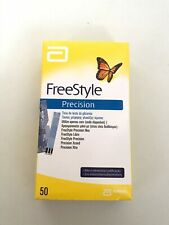 Blood Glucose 50 Test strips Freestyle precision Abbott Diabetes