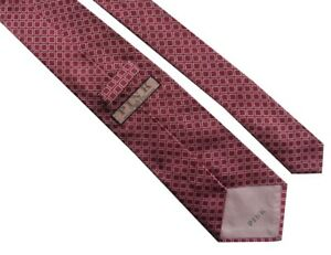 THOMAS PINK Jermyn Street London Mens Red White Pattern Silk Tie >> RRP £70
