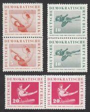 *1p SALE* Germany - East, 1959 Sports Festival x 3 Pairs. SG E440-2 U/Mint MNH