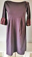 Toast Women's Dress Purple Size 8 Cotton Silk Trim VGC