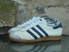 Vintage 1980s Adidas Rekord S UK7 Made In Yugoslavia White Blue bern koln dublin