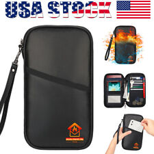 Fireproof Money Bag Waterproof Safe Cash Box Document Envelope File Pouch N1C2