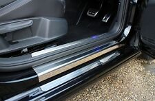 VW Golf Mk7 13  (5dr) Stainless Steel Kick Plate Car Door Sill Protectors - 8pce