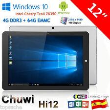 "12"" Chuwi Hi12 Tablet PC Win10/Android 5.1 QuadCore 4GB/64GB Dual Cámara 3G WiFi"