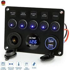 Schalterpanel Boot Schalttafel 5 Gang 12V/24V Schaltpaneel Schalter DE