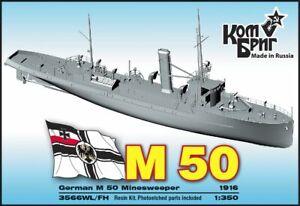 # Combrig 3566 FH/WL Minensuchboot M 50 der Kaiserl.Marine 1916/ Resin-Kit 1:350