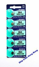 Sony SR621SW 364 Silver Oxide cell coin button watch battery x5 pcs 0% Mercury