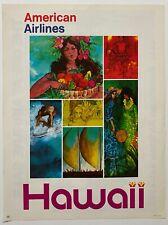 Vintage Original 1970s HAWAII AMERICAN AIRLINES Travel Poster