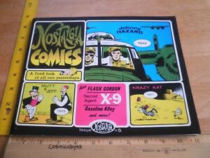 Johnny Hazard Krazy Kat X-9 Nostalgia Press 5 Comics strips TPB 1973
