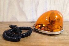 Vintage Sireno Teardrop Orange Car Emergency Light LED Bulb Magnetic Base