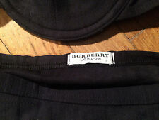 BURBERRY LONDON BLACK NOVA CHECK BIKINI S M 4 6 2 TOP DRESS TRENCH BATHING SUIT