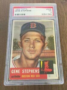 1953 Topps #248 Red Sox Gene Stephens PSA 3