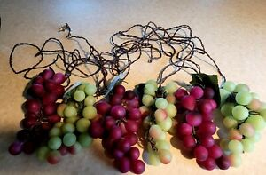 Grape Clusters String Lights 150 Lights IN/Outdoor 30.5' Red & Green 6 CLUSTERS