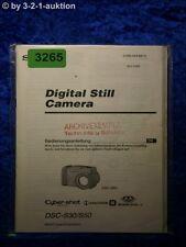 Sony Manual Dsc S30/S50 Digital Still Camera (#3265)