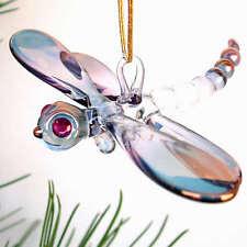 Dragonfly Figurine Blown Glass Christmas Tree Ornament