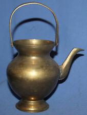 Vintage Decorative Brass Vase Teapot Kettle Shape