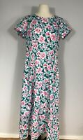 Vintage Royal Creations Multicolored Floral Print Hawaiian Maxi Dress Women's M