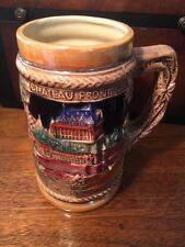 Stein Beer Mug Of Quebec Canada Chateau Frontenac Montmorency Falls Made Japan
