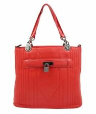 Ladies Fashionable Leather Bag Sling Top Handle Bag 696 (Red)