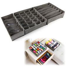 3 Pieces Underwear Bra Ties Socks Foldable Organizer Storage Box Stackable