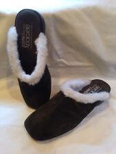 "New Aerology Aerosoles ""Cuddle Up"" Womens Size 6 Dark Green Suede Leather Clogs"