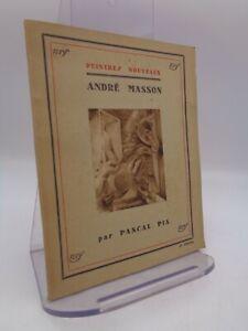 """Pascal Pia : André Masson  Gallimard """"peintres nouveaux"""" 1930"""