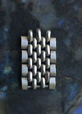 Four vintage steel Beads of Rice watch band links NOS to lengthen many BoR bands
