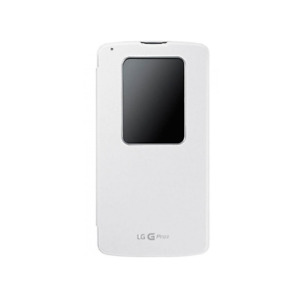 original LG G Pro 2 CCF-330G Quick Window Case Flip Tasche Schutz Hülle weiss