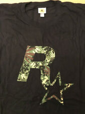 "Rara vez Rockstar Games GTA 5 camisa size L - ""tarnfarben negro"" Warehouse nuevo"