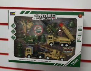 kids Armed Force Army Vehicle Truck Tank Fighter Jet Accessories Toy Play Set