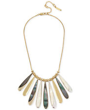 Kenneth Cole New York Gold-Tone Mother-of-Pearl-Look Paddle Statement Necklace