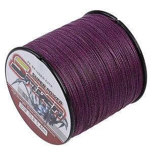 Purple 300M/1000M/500M/100M Dyneema Braided Fishing Line 6LB-300LB