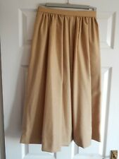 Vintage Jaeger Full Skirt Skirt Size 12 Biscuit Colour