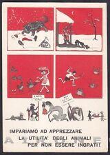 PROTEZIONE ANIMALI 01 ENTE NAZIONALE - ANGLO ITALIAN SOCIETY Cartolina 1958