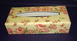 Vintage Plastic Tissue Kleenex Cover Box Floral Pattern