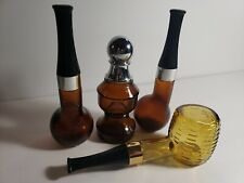 Vintage Avon Glass bottle lot of 4 after shave Collection