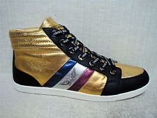 ROBIN'S JEAN -DANTON -Men's High Top Shoes Sneakers -Black Gold Leather -Size 13