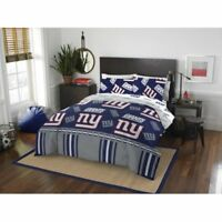 New York Giants NFL Queen 5 Piece Comforter Bedding Team Logo Bed in Bag Set