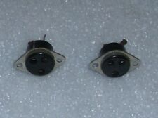 3 pin Speaker output terminal connector for Lafayette A-52 amplifier lot of 2 p.
