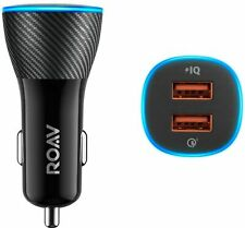 Anker Roav 2-Port Car Charger with Car Locator & Car Battery Monitor SmartCharge