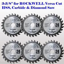 6x 3-3/8-inch Carbide Tip Saw Blade for ROCKWELL VersaCut RK3440K  RK7004 Wood
