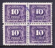 Canadá 1932 franqueo debido SGD13 10c-Fine Used bloque de 4 raro como tal. Cat £ 180