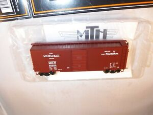 MTH HO Scale Milwaukee Road MILW 40' PS-1 SD Box Tuscan #35050