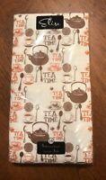 Vintage ELISE Guest Dinner Party Towels 3-Ply Paper Napkins 16ct TEA TIME....USA