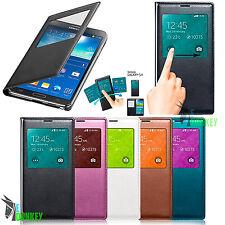 Custodia Flip cover S VIEW per Samsung Galaxy S5 SM-G900F Con CHIP + Pellicola