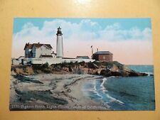 Pigeon Point Lighthouse Pescadero California vintage postcard